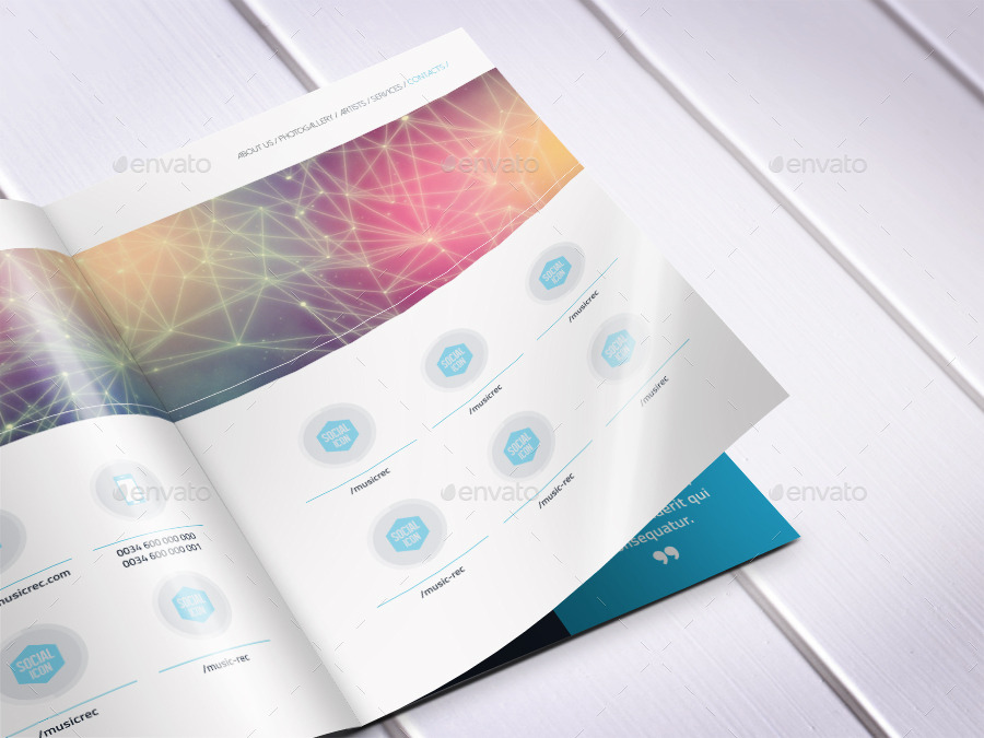 Music Agency Presentation Brochure  BiFold By Dogmadesign
