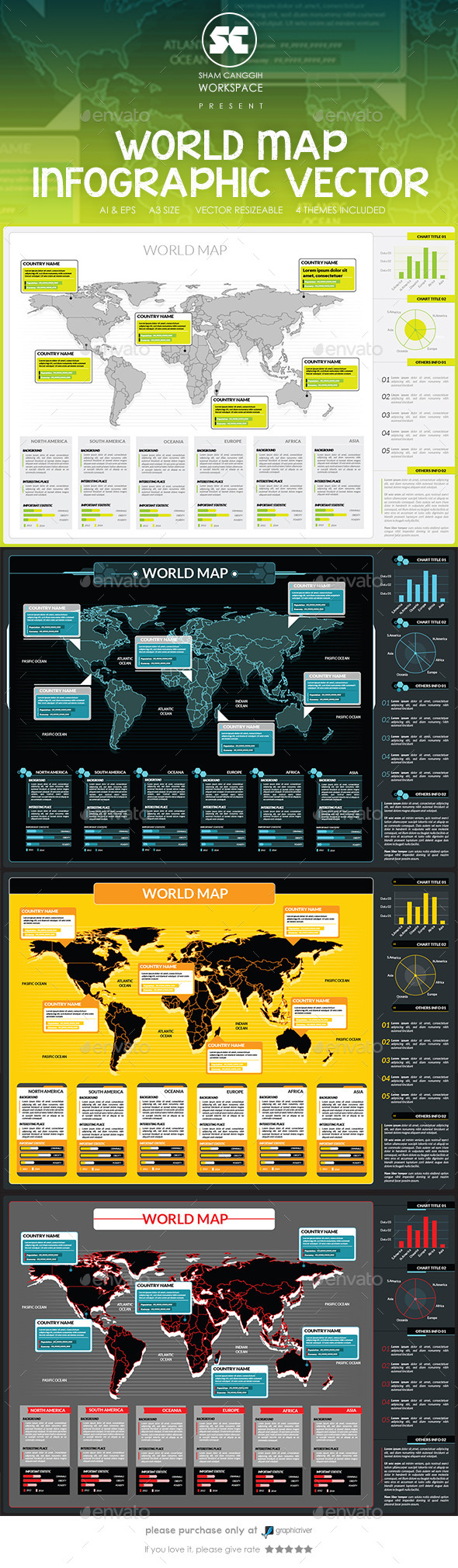 World Map Infographic - Infographics