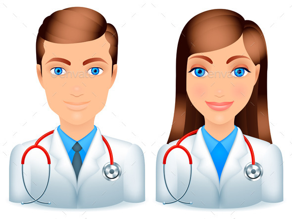 Male and Female Doctors - People Characters