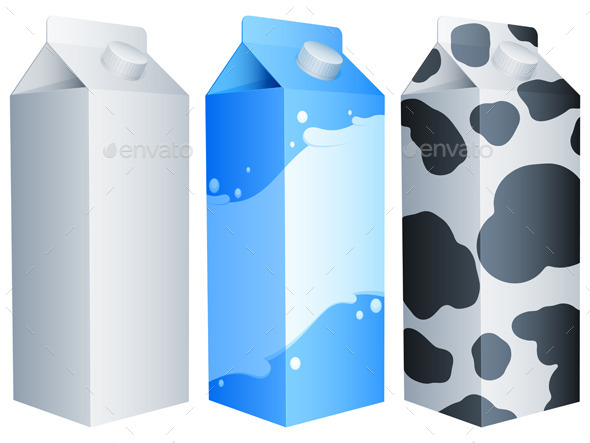 Milk Packs - Food Objects