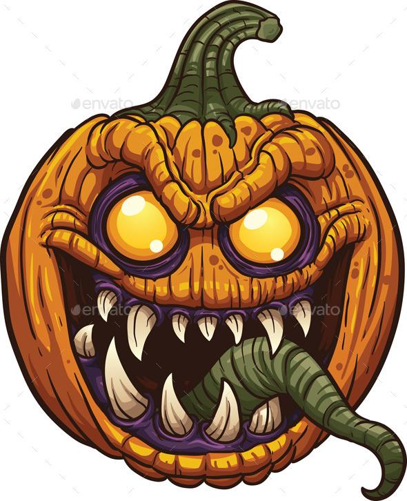 Pumpkin Monster - Halloween Seasons/Holidays