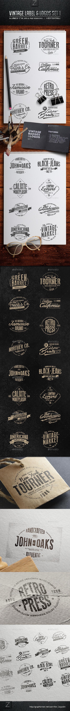 Vintage Badges & Labels Set 1 - Badges & Stickers Web Elements