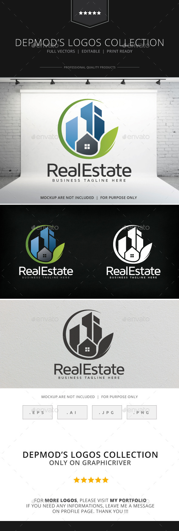 Real Estate V.02 Logo - Buildings Logo Templates