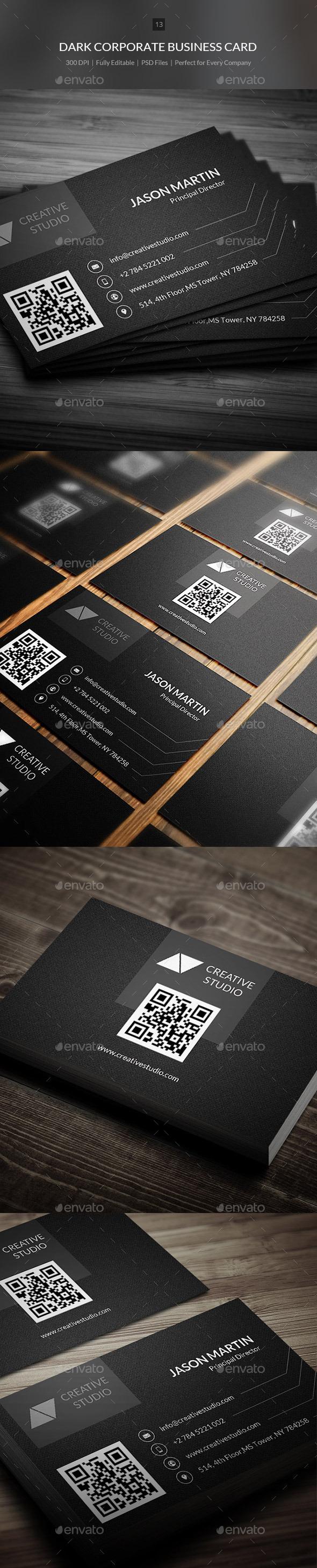 Dark Corporate Business Card - 13 - Corporate Business Cards