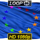 Isolated Waving Gay Rainbow Flag of Europe - VideoHive Item for Sale