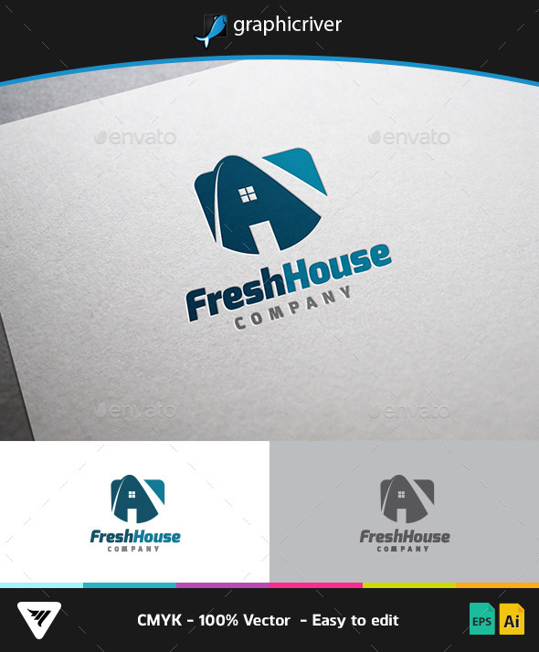 Fresh House Logo - Logo Templates