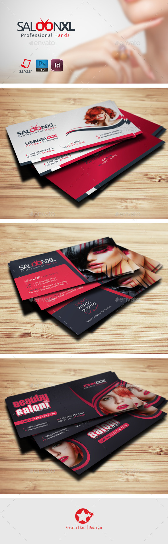 Saloon Business Card Bundle Templates - Business Cards Print Templates