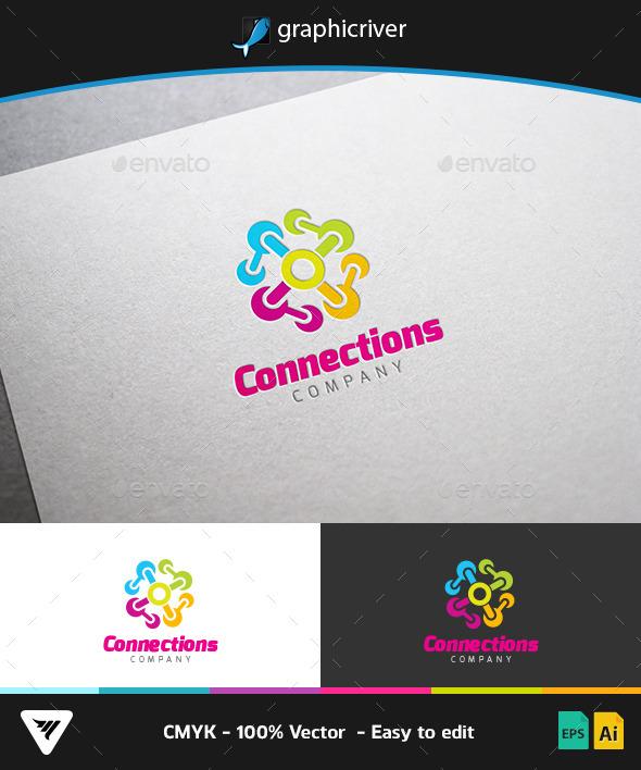 Connections Logo - Logo Templates