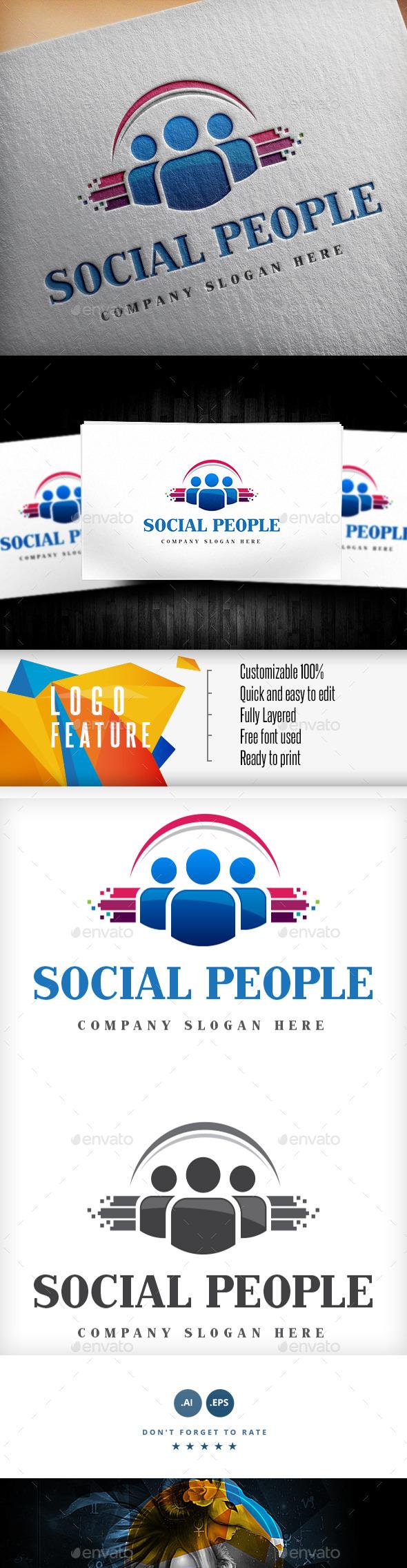 Social People Logo - Logo Templates
