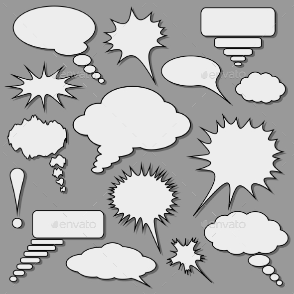 Speech Bubbles Set - Miscellaneous Vectors