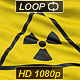 Realistic radiation flag waving on the wind. - VideoHive Item for Sale