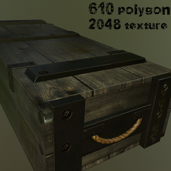 ArmyAmmoBox - 3DOcean Item for Sale
