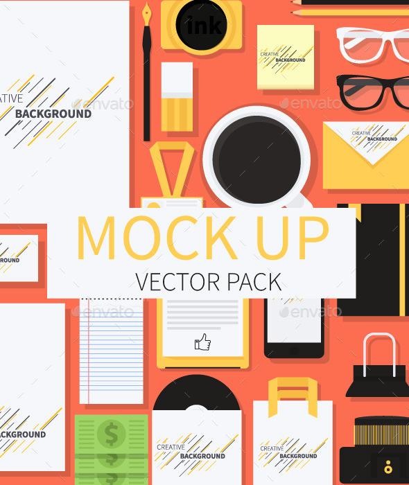 Mockup Illustration - Web Elements Vectors