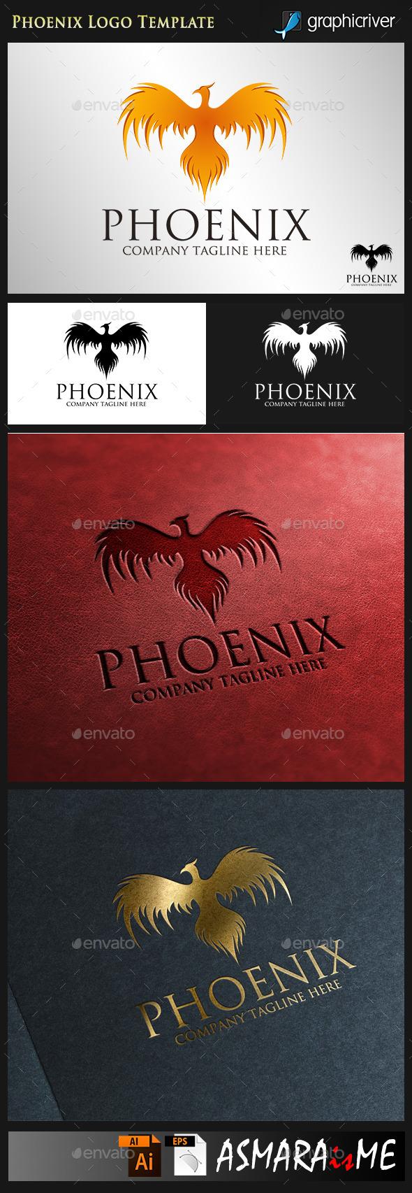 Phoenix - Fire Bird Logo - Animals Logo Templates