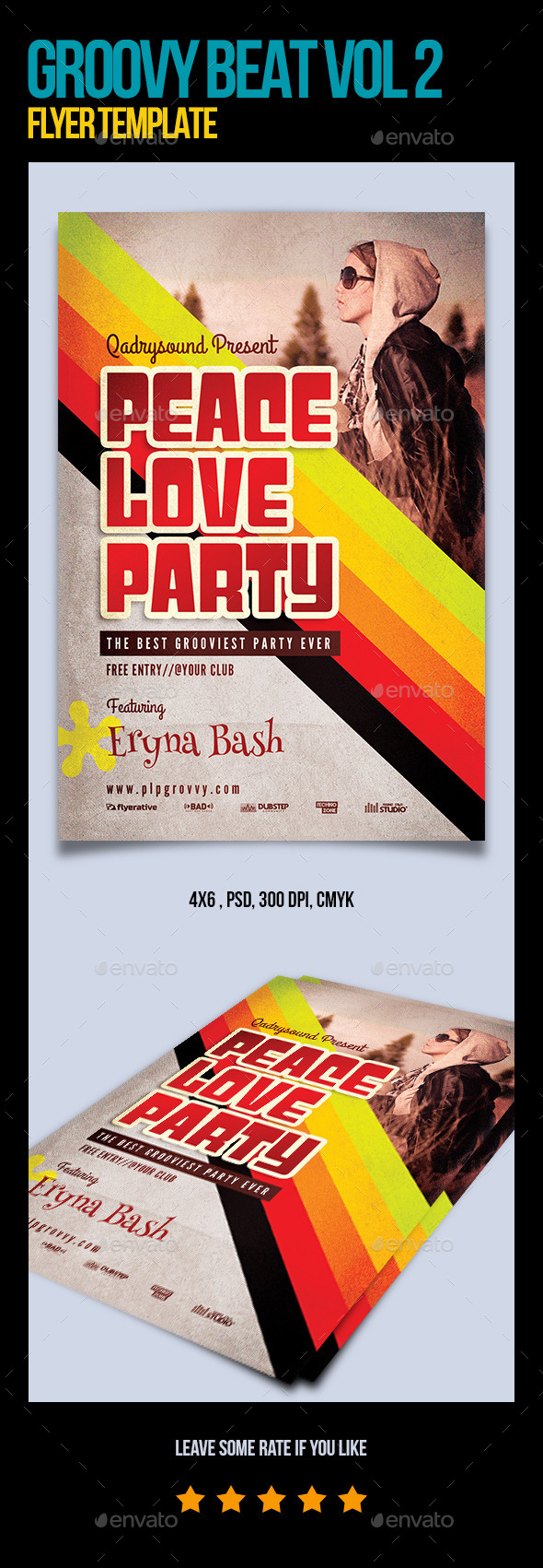 Groovy Beat Vol 3 Flyer Template - Clubs & Parties Events