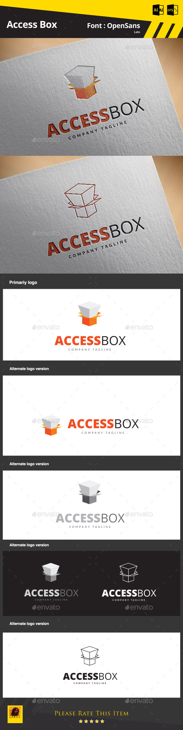 Access Box - Objects Logo Templates