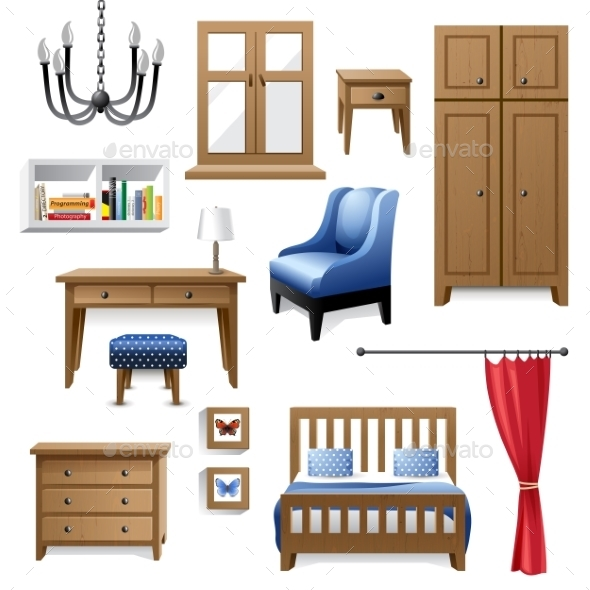 Furniture Icons - Objects Vectors