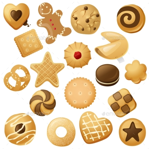 Cookie Icons - Food Objects