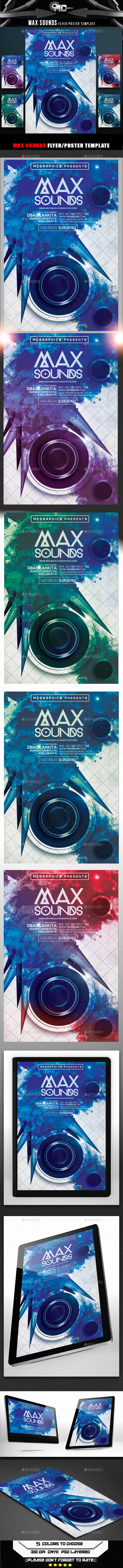 Max Sounds Flyer Template - Flyers Print Templates