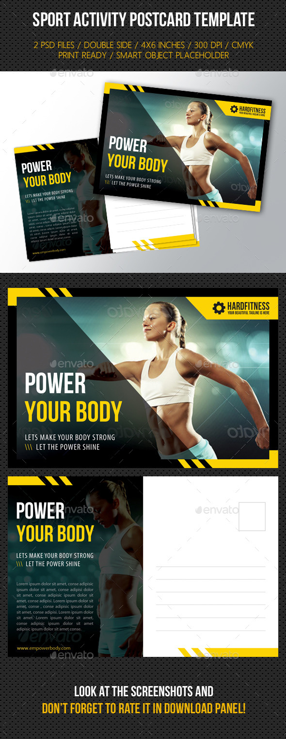Sport Activity Postcard Template - Cards & Invites Print Templates
