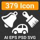 379 Glyph Vector Icon - GraphicRiver Item for Sale