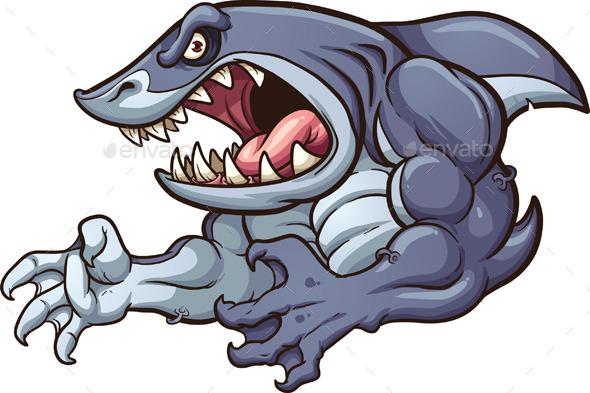 Raging Shark - Animals Characters