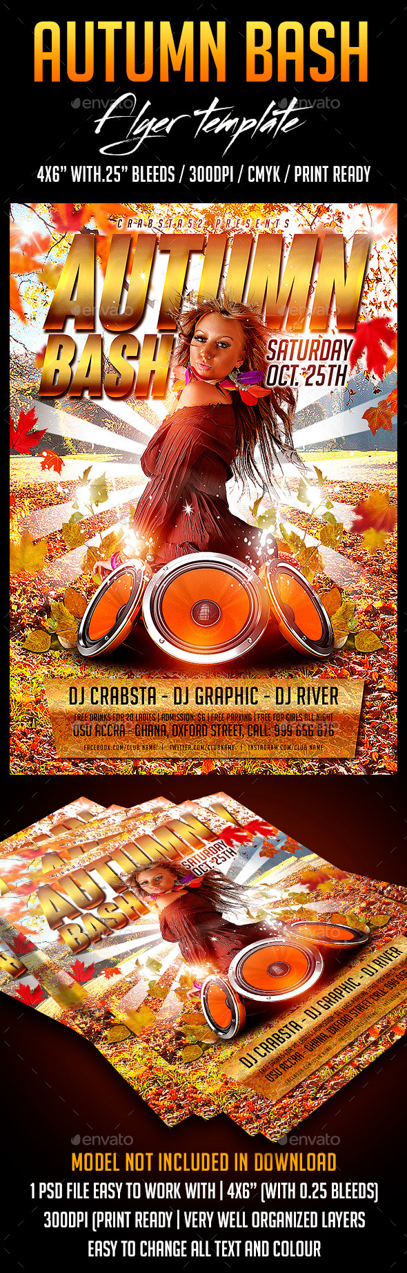 Autumn Bash Flyer Template - Flyers Print Templates
