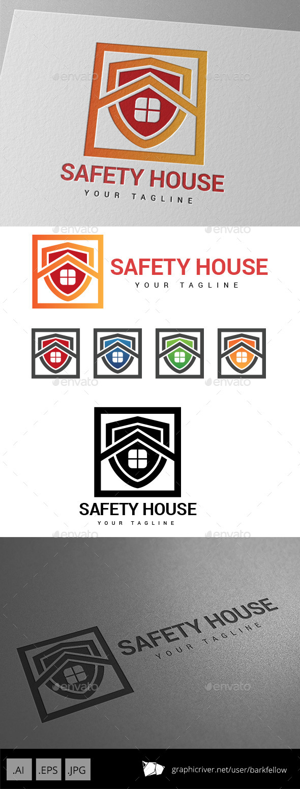 Safety House Security Logo - Buildings Logo Templates