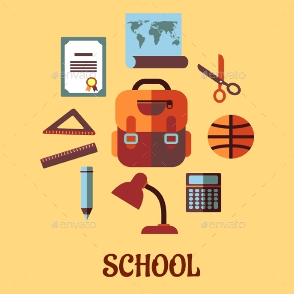 Infographic School Education in Flat Design - Miscellaneous Conceptual