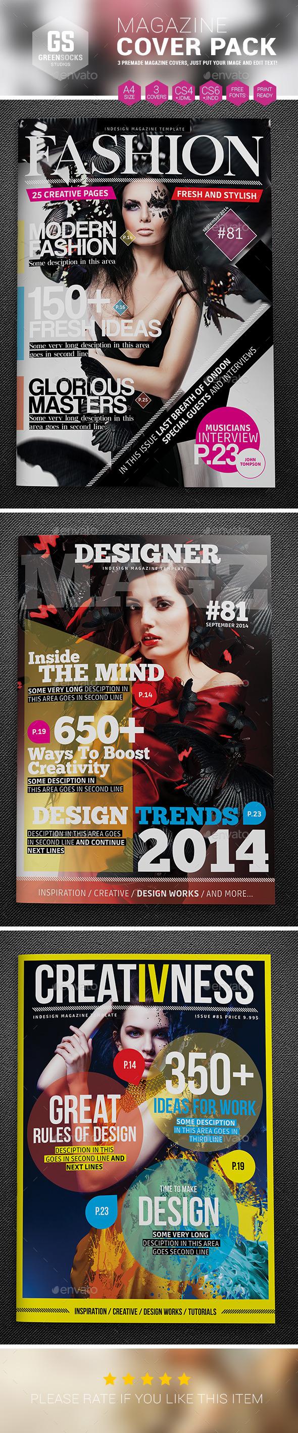 Magazine Cover Templates - Magazines Print Templates