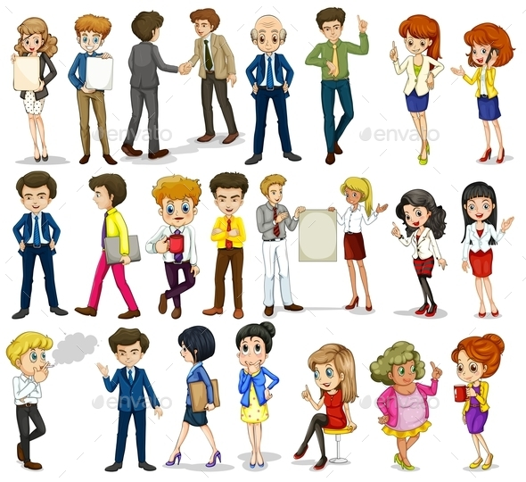 Group of Business-Minded People - People Characters