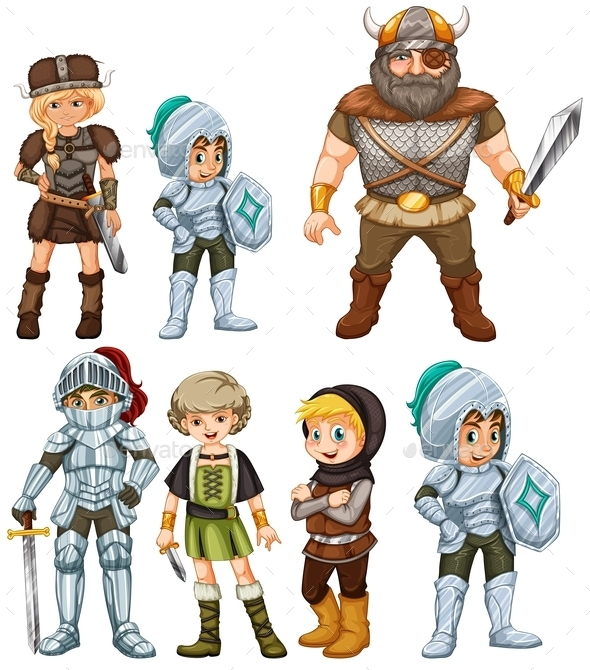 Knights and Warriors - People Characters