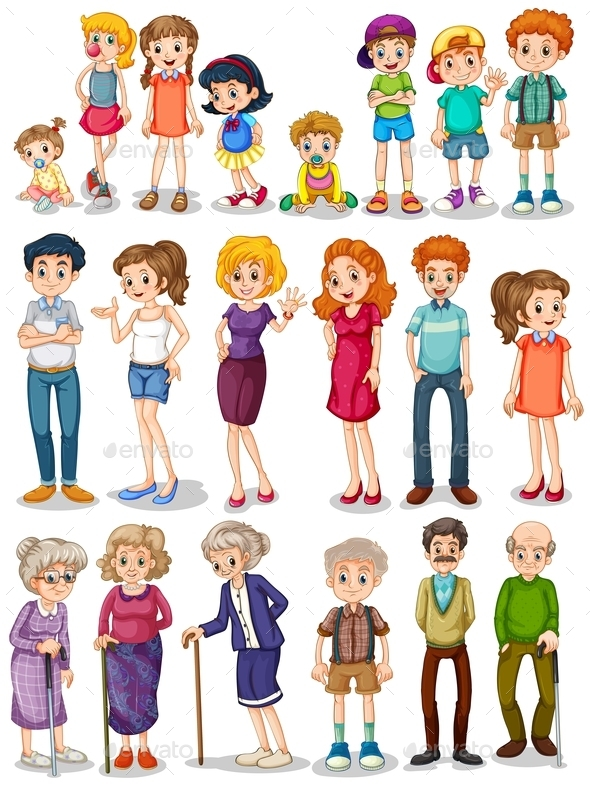 Family Set - People Characters