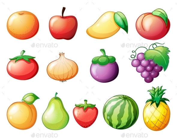 Different Kinds of Fruits - Food Objects