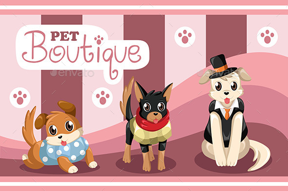 Pet Boutique - Animals Characters