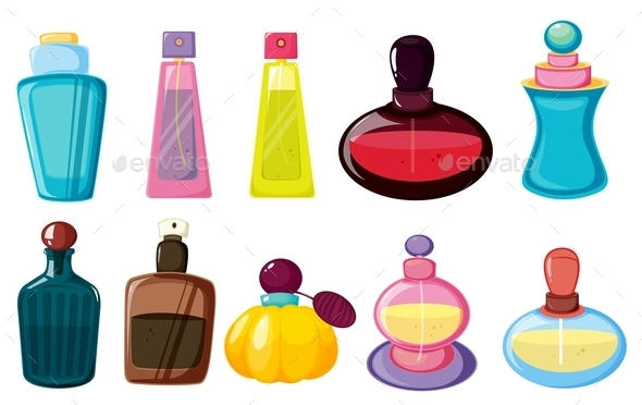 Bottles of Perfume - Man-made Objects Objects