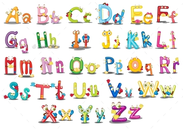 Alphabet Characters - Decorative Symbols Decorative