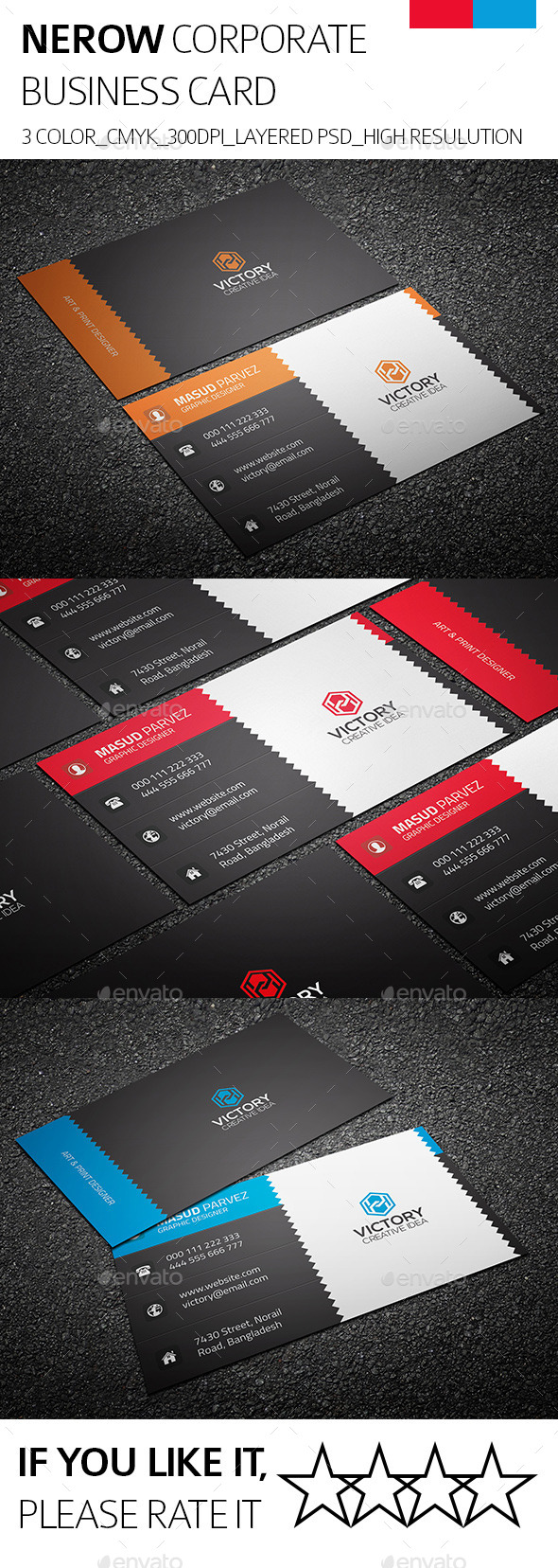 Nerow & Corporate Business Card - Corporate Business Cards