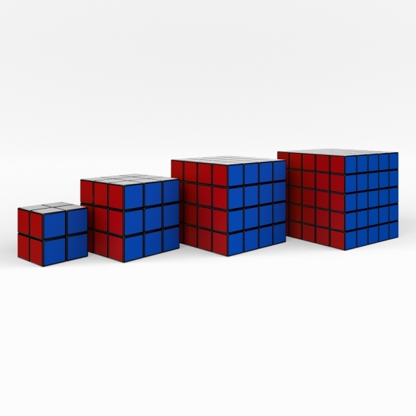 Rubik Cube collection (4 in 1) - 3DOcean Item for Sale