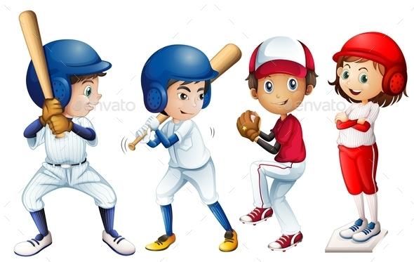 Baseball Team - People Characters