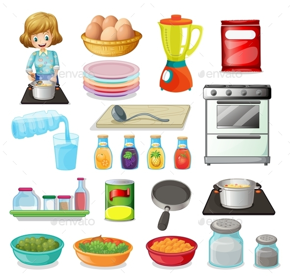 Food and Kitchenware - Man-made Objects Objects