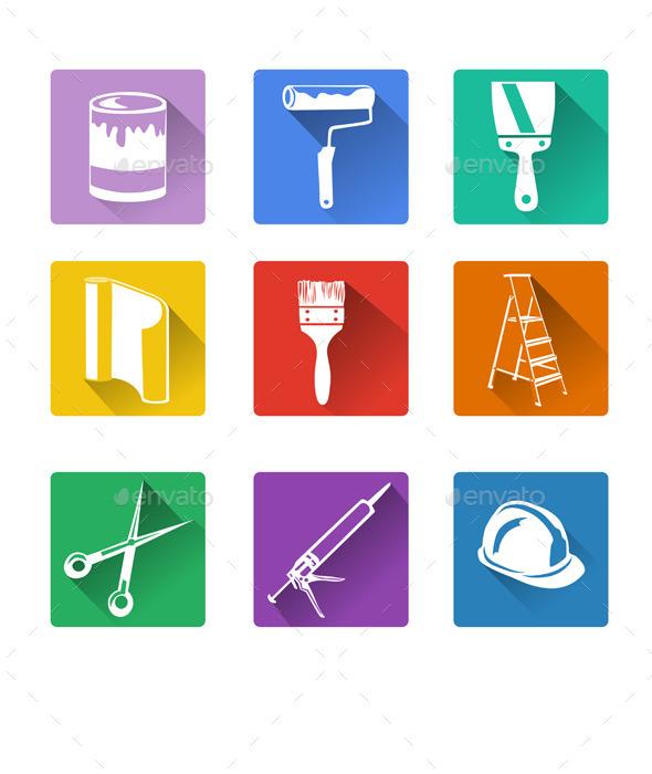 Home Repair Flat Icon - Web Elements Vectors