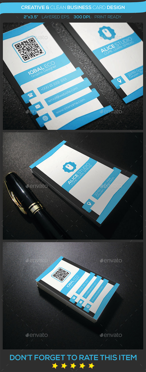Creative & Clean Business Card Design - Creative Business Cards