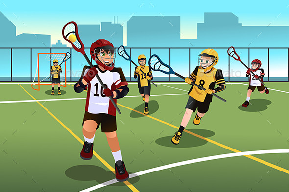 Kids Playing Lacrosse - Sports/Activity Conceptual