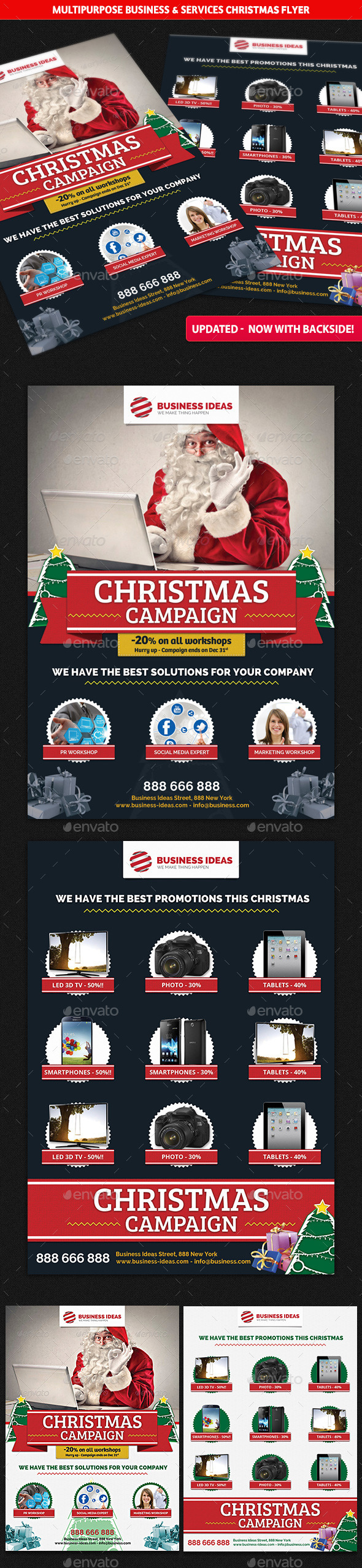 Multipurpose Business Christmas Flyer - Commerce Flyers