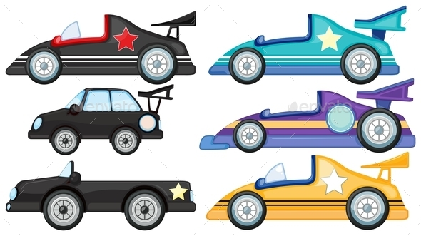 Six different Styles of Toy Cars - Miscellaneous Conceptual