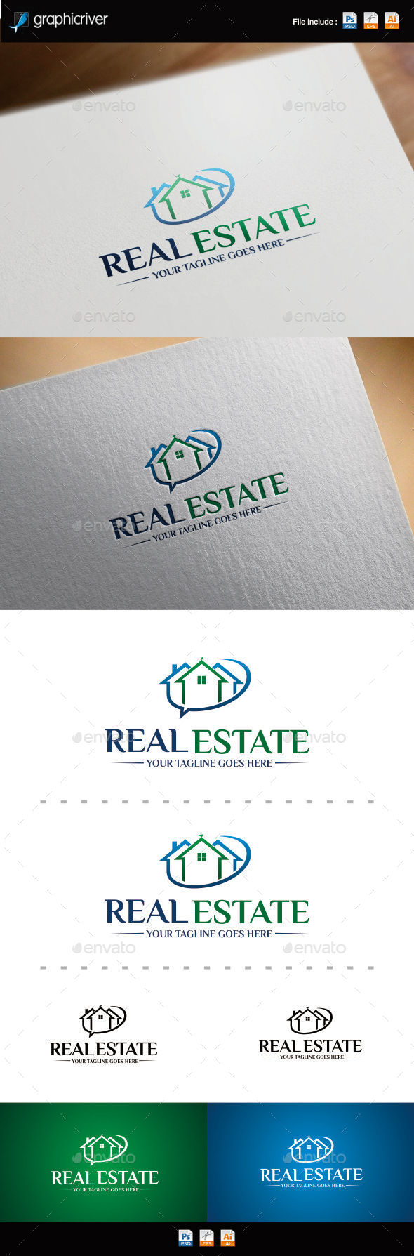 Real Estate Logo Template - Symbols Logo Templates