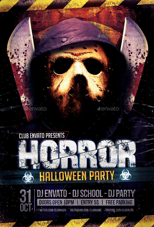 Horror & Biohazard Halloween Party Flyers By Zular | Graphicriver