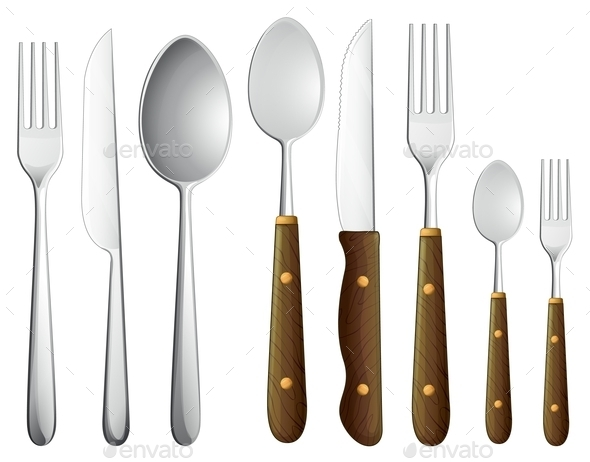 Spoon Set - Man-made Objects Objects