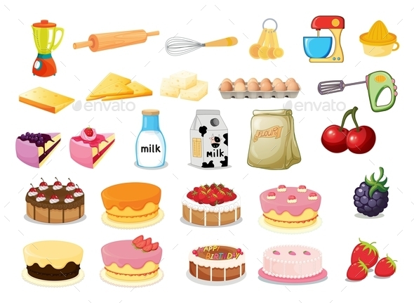 Dessert Set - Food Objects